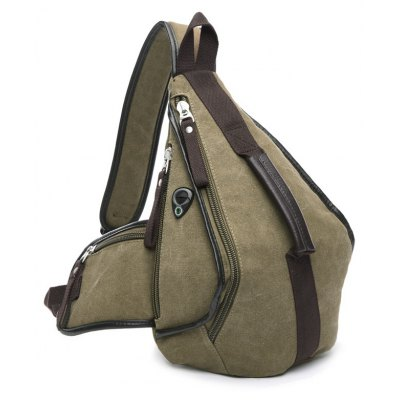Color Splicing Design Messenger Bag For Men