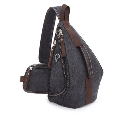 Casual Zippers and Color Splicing Design Messenger Bag For Men
