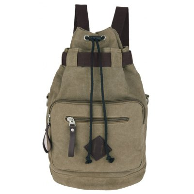 Leisure Drawstring and Zippers Design Backpack For Men