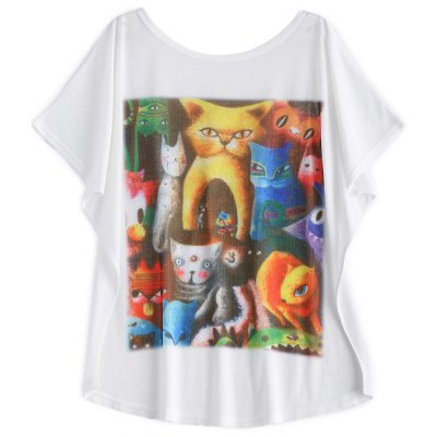 Batwing Sleeve Cat T-Shirt