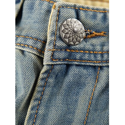 Scratch Zipper Fly Bleach Wash Jeans For MenMens Jeans<br>Scratch Zipper Fly Bleach Wash Jeans For Men<br><br>Material: Cotton,Jeans<br>Pant Length: Nine minutes of Pants<br>Wash: Bleach<br>Fit Type: Loose<br>Closure Type: Zipper Fly<br>Weight: 0.650kg<br>Pant Style: Harem Pants<br>Package Contents: 1 x Jeans<br>With Belt: No