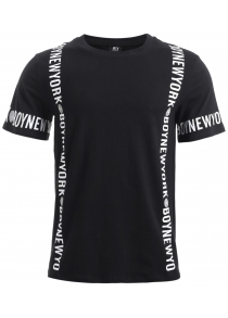BoyNewYork Solid Color Short Sleeves Cotton T-Shirt