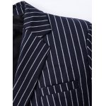 Classic Striped Notched Lapel Collar Long Sleeve Blazer For Men deal