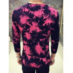cheap 3D Splashed Ink Print Round Neck Long Sleeve T-Shirt For Men