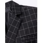 Classic Notched Lapel Collar Checked Double Breasted Blazer For Men deal