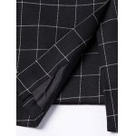Classic Notched Lapel Collar Checked Double Breasted Blazer For Men photo