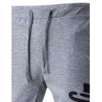 Lace-Up Letters Print Beam Feet Pants For Men deal