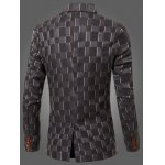 cheap New Look Notched Lapel Collar Double Breasted Striped Blazer For Men