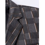 New Look Notched Lapel Collar Double Breasted Striped Blazer For Men deal