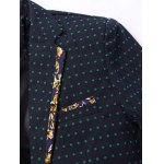 Stylish Spliced Dot Embroidered Lapel Collar Single Button Blazer For Men deal