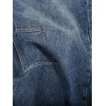 Loose-Fitting Seamed Zipper Fly Jeans For Men for sale
