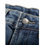 Loose-Fitting Seamed Zipper Fly Jeans For Men deal