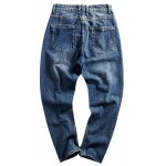 cheap Loose-Fitting Seamed Zipper Fly Jeans For Men