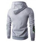 cheap Hooded Camouflage Spliced Pocket Zip-Up Long Sleeve Hoodie For Men