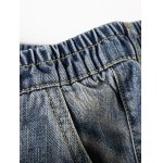 best Seam Front Scratched Elastic Waist Jeans For Men
