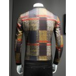 Stand Collar Long Sleeve Tartan Jacket for sale