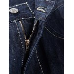 Brief Solid Color Splicing Jeans For Men for sale