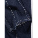 best Brief Solid Color Splicing Jeans For Men