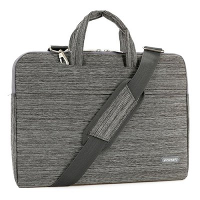 Casual Solid Color and Zippers Design Laptop Bag For Men
