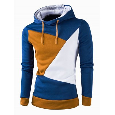 IZZUMI  Color Block Spliced Casual Slim Fit Long Sleeve Hoodies