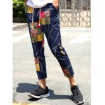 Lace-Up Patch Style Print Nine Minutes of Pants For Men deal