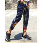 cheap Lace-Up Patch Style Print Nine Minutes of Pants For Men