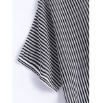 Casual Asymmetric Striped Short Sleeves Knitwear For Women for sale