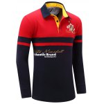 cheap Letter Snowflake Print Embroidered Patch Color Splicing Polo Shirt For Men
