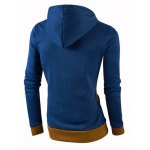cheap IZZUMI  Color Block Spliced Casual Slim Fit Long Sleeve Hoodies