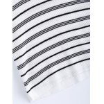 Casual V-Neck Stripe Short Sleeves Knitwear For Women photo
