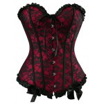 Strapless Bowknot Lace Corset