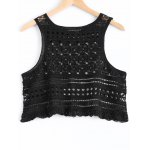 Fashionable Hollow Out Knitted Crop Top For Women