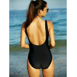 Black Hollow Out Backless One-Piece Swimsuit deal