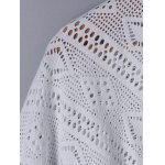 Fashionable 3/4 Sleeve Loose-Fitting Lace Spliced Cardigan deal