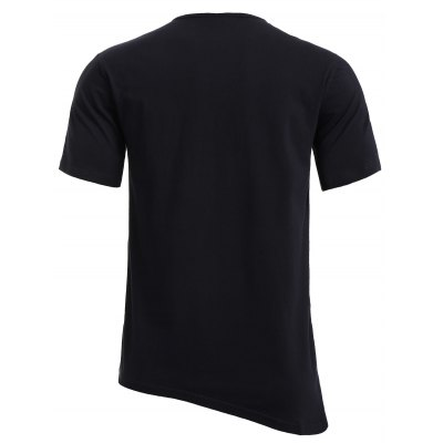 BoyNewYork Asymmetric Hem Short Sleeves T-Shirt