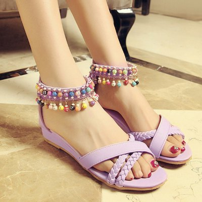 Beading Design Sandals For Women