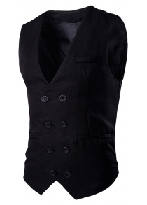 Slim Fit Double Breasted Waistcoat