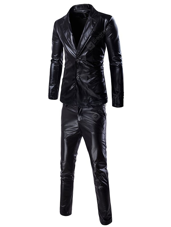 Fashionable Shinny Blazer + Pants Twinset Suits For Men