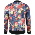 cheap Casual Floral Bomber Jacket