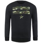 Camo Star Patch Pullover Sweatshirt For Men