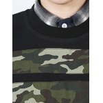 Camo Star Patch Pullover Sweatshirt For Men for sale