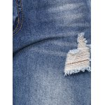 best Stylish Colorful Icon Spliced Destroyed Jeans