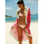 cheap Watermelon Pattern Sun Resistant Cover Up