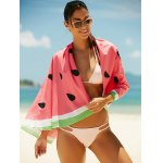 Watermelon Pattern Sun Resistant Cover Up deal