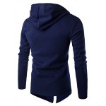 cheap Izzumi Diagonal Zipper Design Long Sleeve Hoodies