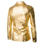 Fashionable Shinny Blazer + Pants Twinset Suits For Men for sale