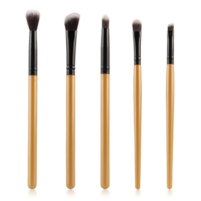 5 Pcs Eyeshadow Nylon Eye Makeup Brushes Set