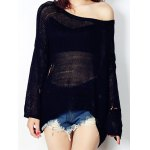 Pure Color Ripped Women's Knitwear