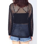 Loose-Fitting Pure Color Women's Knitted Top deal