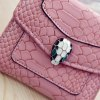 Stylish Solid Color and Embossing Design Wallet For Women photo